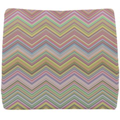Chevron Colorful Background Vintage Seat Cushion
