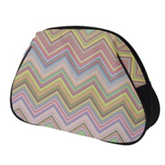 Chevron Colorful Background Vintage Full Print Accessory Pouch (small)