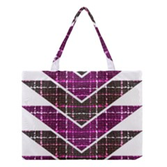 Fabric Tweed Purple Brown Pink Medium Tote Bag