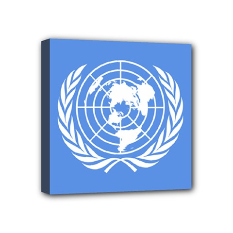 Flag Of United Nations, 1945 1947 Mini Canvas 4  X 4  (stretched) by abbeyz71