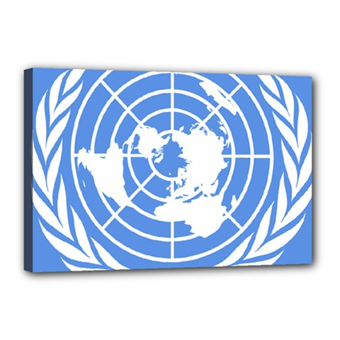 Square Flag Of United Nations Canvas 18  X 12  (stretched) by abbeyz71