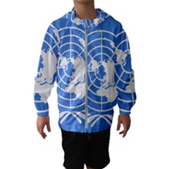 Square Flag Of United Nations Hooded Windbreaker (kids) by abbeyz71