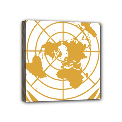 Emblem Of United Nations Mini Canvas 4  X 4  (stretched) by abbeyz71
