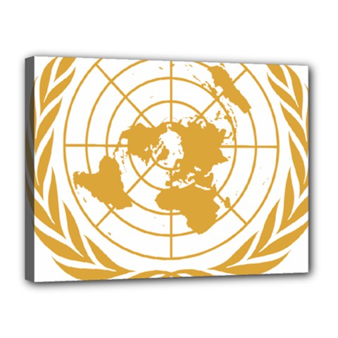 Emblem Of United Nations Canvas 16  X 12  (stretched) by abbeyz71