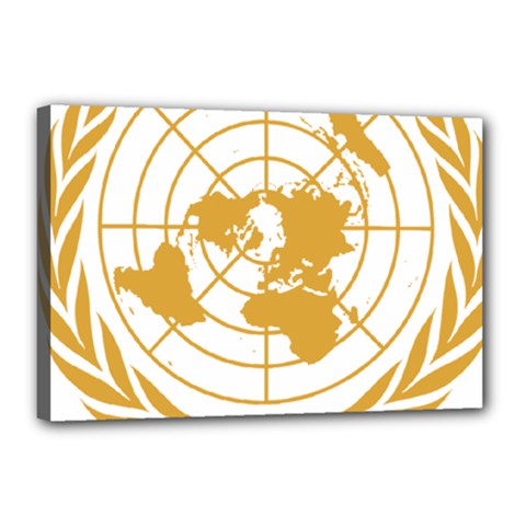 Emblem Of United Nations Canvas 18  X 12  (stretched) by abbeyz71