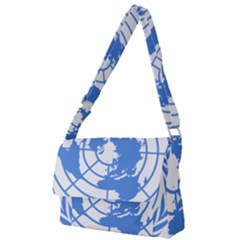 Blue Emblem Of United Nations Full Print Messenger Bag by abbeyz71