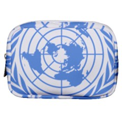 Blue Emblem Of United Nations Make Up Pouch (small) by abbeyz71