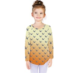 Blue Bird Of Happiness   Sunset (colourglide)   By Larenard Kids  Long Sleeve Tee