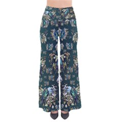 Blue Birds Of Happiness   Darker Colourglide   By Larenard So Vintage Palazzo Pants