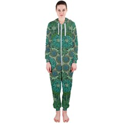 Stars Shining Over The Brightest Star In Lucky Starshine Hooded Jumpsuit (ladies)  by pepitasart