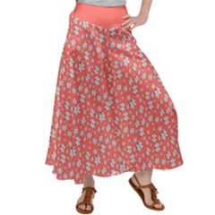 Atomic Effect In Living Coral Satin Palazzo Pants by TimelessFashion