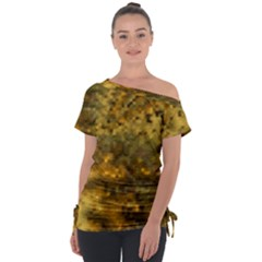 Abstract Dizzy 1b Tie Up Tee by MoreColorsinLife