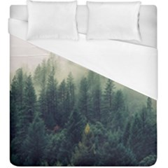 Foggy Tree Tops Duvet Cover (king Size) by WensdaiAddamns