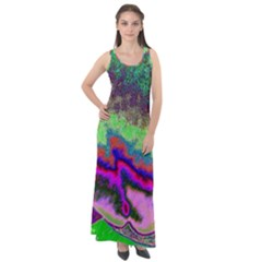 Clienmapcoat Sleeveless Velour Maxi Dress