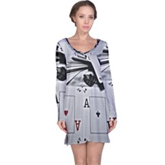 All Aces Long Sleeve Nightdress by WensdaiAddamns