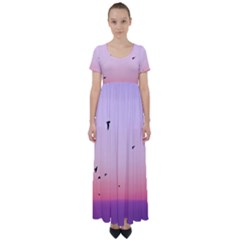 My Flock   Pastel High Waist Short Sleeve Maxi Dress by WensdaiAddamns