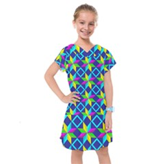 Pattern Star Abstract Background Kids  Drop Waist Dress