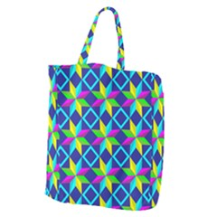 Pattern Star Abstract Background Giant Grocery Tote