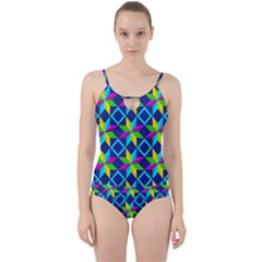 Pattern Star Abstract Background Cut Out Top Tankini Set by Pakrebo