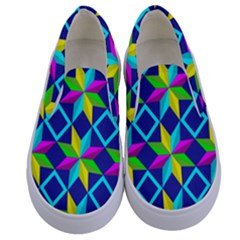 Pattern Star Abstract Background Kids  Canvas Slip Ons