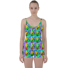 Star Texture Template Design Tie Front Two Piece Tankini