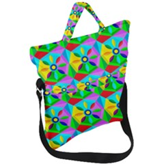 Star Texture Template Design Fold Over Handle Tote Bag
