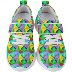 Star Texture Template Design Kids  Velcro Strap Shoes