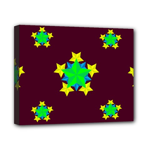 Pattern Star Vector Multi Color Canvas 10  X 8  (stretched)