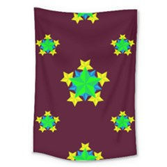 Pattern Star Vector Multi Color Large Tapestry