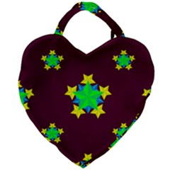 Pattern Star Vector Multi Color Giant Heart Shaped Tote by Pakrebo