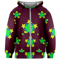 Pattern Star Vector Multi Color Kids  Zipper Hoodie Without Drawstring