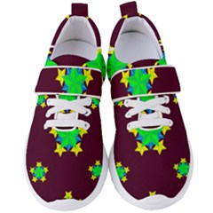 Pattern Star Vector Multi Color Women s Velcro Strap Shoes