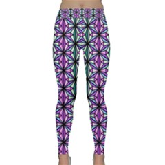 Geometric Patterns Triangle Seamless Classic Yoga Leggings