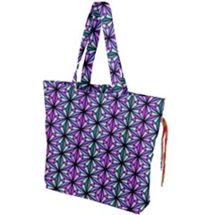 Geometric Patterns Triangle Seamless Drawstring Tote Bag