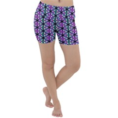 Geometric Patterns Triangle Seamless Lightweight Velour Yoga Shorts