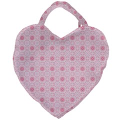 Traditional Patterns Pink Octagon Giant Heart Shaped Tote