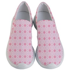 Traditional Patterns Pink Octagon Women s Lightweight Slip Ons