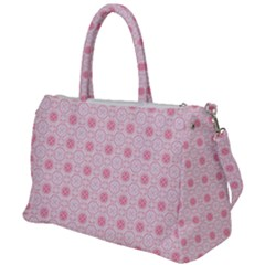 Traditional Patterns Pink Octagon Duffel Travel Bag by Pakrebo