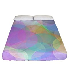 Abstract Background Texture Fitted Sheet (queen Size)