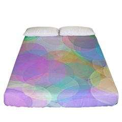 Abstract Background Texture Fitted Sheet (california King Size)