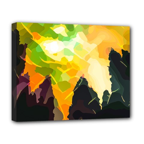 Forest Trees Nature Wood Green Deluxe Canvas 20  X 16  (stretched)