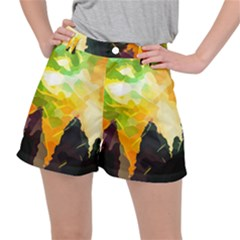 Forest Trees Nature Wood Green Stretch Ripstop Shorts