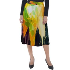 Forest Trees Nature Wood Green Classic Velour Midi Skirt