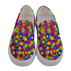 Neon Dots Women s Canvas Slip Ons