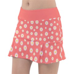 Field Of Daisies Tennis Skirt