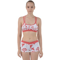 Floral In Coral  Perfect Fit Gym Set