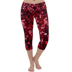 The Ruby Garland Shimmer Capri Yoga Leggings by WensdaiAddamns