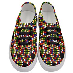 Graphic Pattern Rubiks Cube Cube Women s Classic Low Top Sneakers