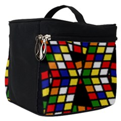 Graphic Pattern Rubiks Cube Cube Make Up Travel Bag (small)