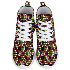 Graphic Pattern Rubiks Cube Cube Women s Lightweight High Top Sneakers by Pakrebo